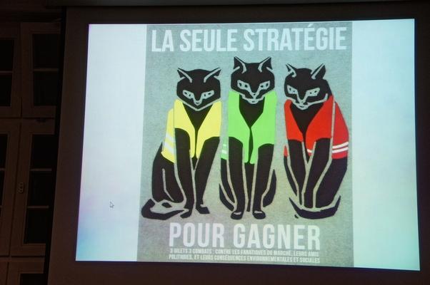 Plakat 'La seule stratégie pour gagner' - Foto: © 2019 by Schattenblick