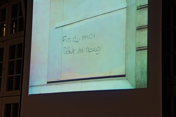 Grafitti 'Fin du moi, Debút de nous' - Foto: © 2019 by Schattenblick