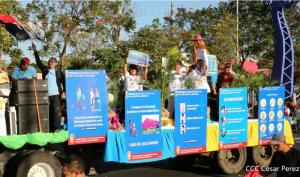 Nicaragua - Karnevalsumzug der FSLN am 14. März 2020