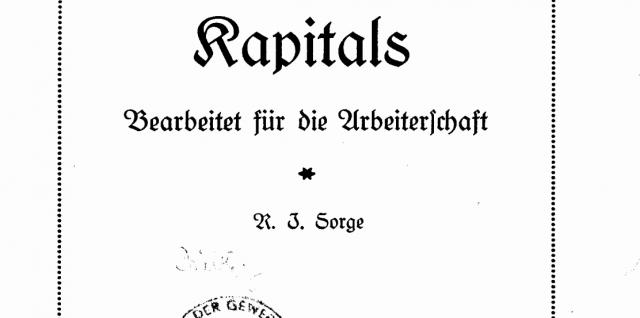 Broschüre von 1922