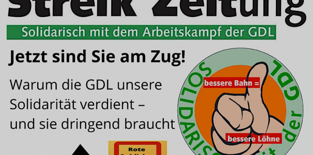 Pro GDL Streikzeitung